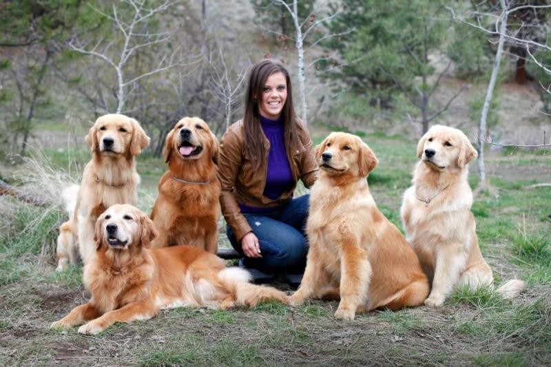 Jacquie with Emerson, Rumour, Breaker, Naughty & Cooper